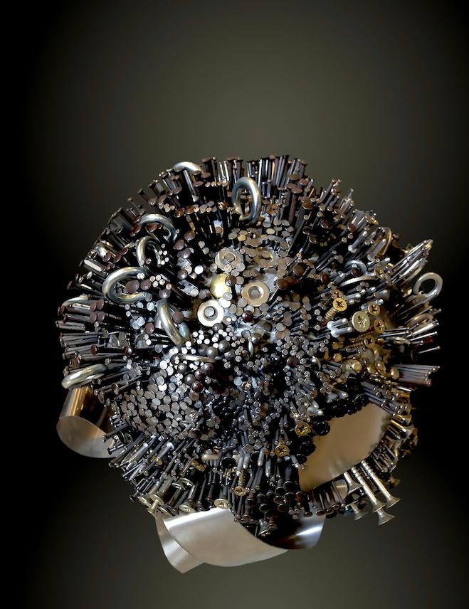 cielo stellato scultura di edy gree , arte povera , arte contemporanea artista scultrice